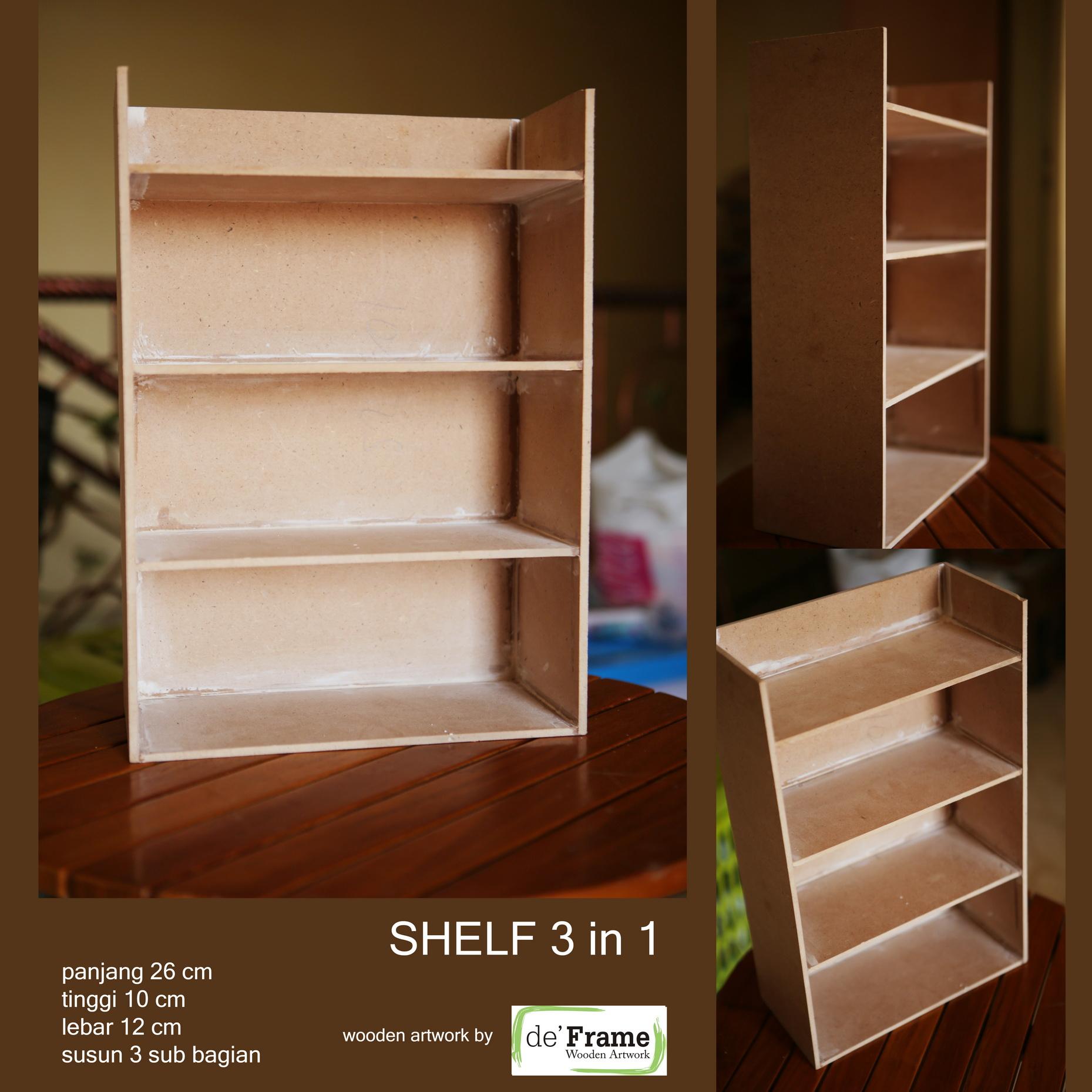 SHELF 3 In 1 Bahan Pigura Foto Scrapbook Home Decor