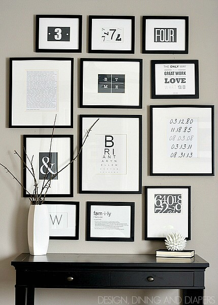 Black and white gallery wall by tarynatddd